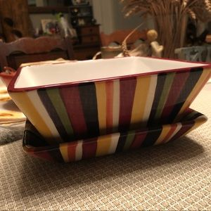 Pampered Chef simple additions striped set